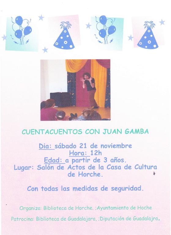 Cuentacuentos con Juan Gamba
