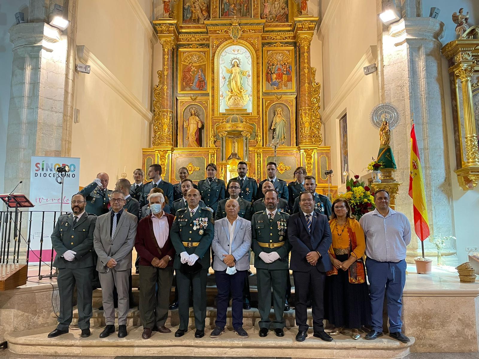 Horche acoge una misa en honor a la Virgen del Pilar en el Día de la Hispanidad